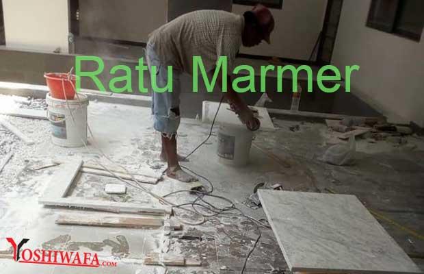 Pemasangan Lantai Ratu Marmer Tulungagung