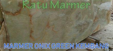 Marmer Onix Green Kembang