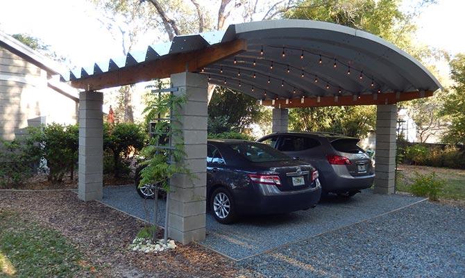 Carport menggunakan bahan teraso