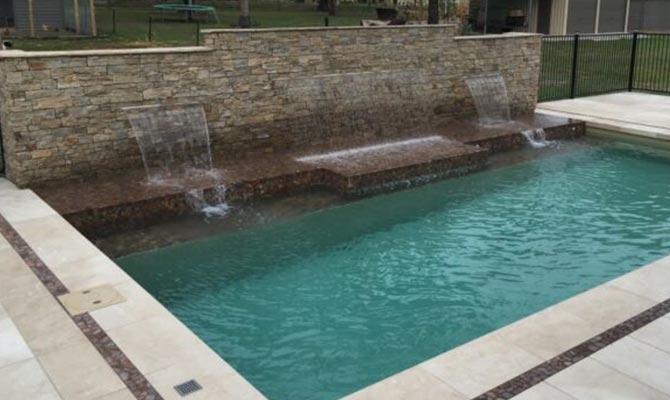 Kolam renang teraso marmer granit